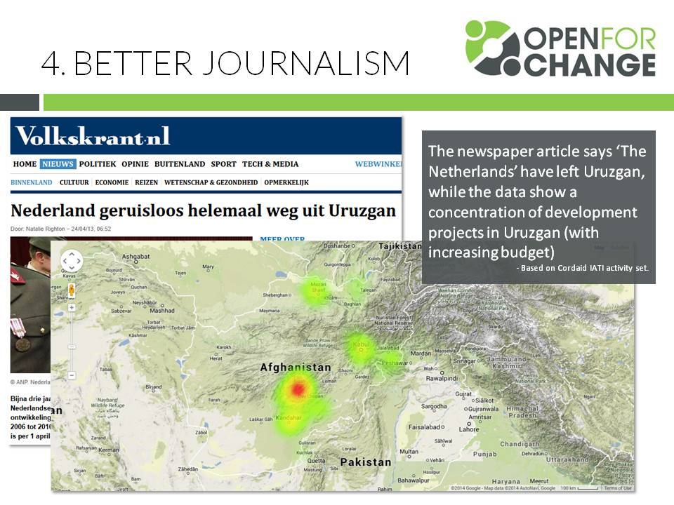 Journalists haven t discovered iati as a data source yet