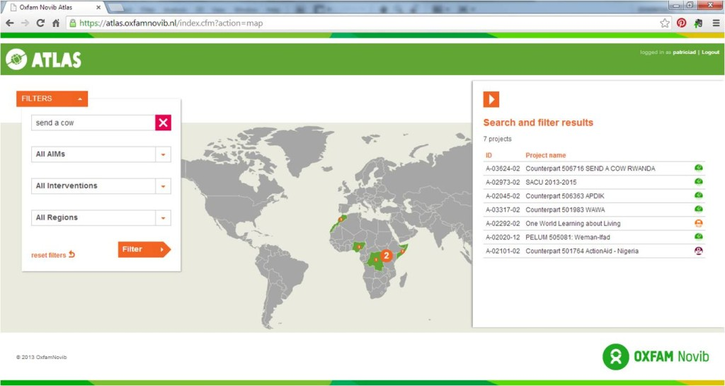 oxfam project browser